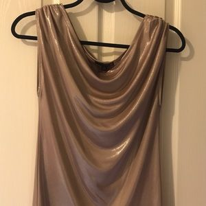 G by Guess Metallic Gold Top